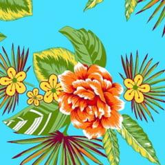 Tecido Chita Floral Versalhes - Azul - 100% Algodão - Largura 1,40m