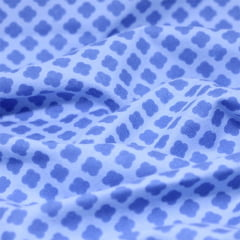 Tecido Flanela Baby - Nuvem Forma - Azul - 100% Algodão - Largura: 80cm