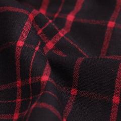 Tecido Flanela Xadrez Madras - Line Vermelho - 100% Algodão - Largura 1,50m
