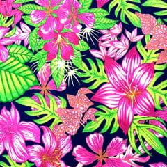 Tecido Gorgurinho Decor Light Basic - Jardim Colorido - 100% Poliéster - Largura 1,40m