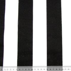 Tecido Gorgurinho Decor Light Basic - Listras Pretas - 100% Poliéster - Largura 1,40m
