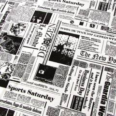 Tecido Jacquard Decor - Jornal - 58% Algodão 42% Poliéster - Largura 1,40m