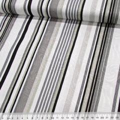 Tecido Jacquard Decor - Listras Design - Gelo - 58% Algodão 42% Poliéster - Largura 1,40m
