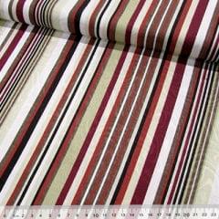 Tecido Jacquard Decor - Listras Design - Vinho - 58% Algodão 42% Poliéster - Largura 1,40m