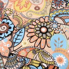 Tecido Jacquard Decor - Mosaico Colorido - Salmão - 58% Algodão 42% Poliéster - Largura 1,40m