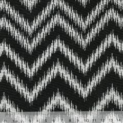 Tecido Jacquard Decor Soft Dupla Face - Chevron Frame - Preto e Branco - 58% Algodão 42% Poliéster - Largura 1,40m