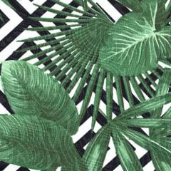 Tecido Jacquard Decor - Folhagem Geometria - 58% Algodão 42% Poliéster - Largura 1,40m
