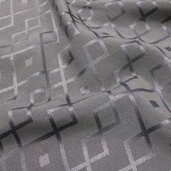 Tecido Jacquard Decor Largo Brocado Dupla Face - Geometria Stripe - Silver - 55% Algodão 45% Poliéster - Largura 2,80m