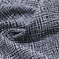 Tecido Jacquard Decor Soft - Dream - Preto - 58% Algodão 42% Poliéster - Largura 1,40m