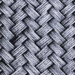 Tecido Jacquard Decor Soft Dupla Face - Cesta - Preto - 58% Algodão 42% Poliéster - Largura 1,40m