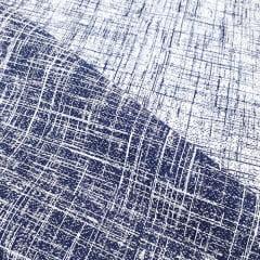 Tecido Jacquard Decor Soft Dupla Face - Riscado Azul Marinho - 58% Algodão 42% Poliéster - Largura 1,40m