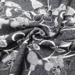 Tecido Jacquard Decor Soft Dupla Face - Flores - 58% Algodão 42% Poliéster - Largura 1,40m