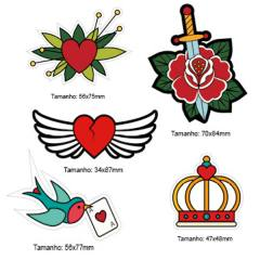 Kit Patches Termocolante - Kit 13 Tattoo - 5 unidades