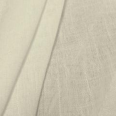 Tecido Linho Puro Liso - Tom Cru - 100% Linho - Largura 1,40m