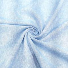 Tecido Linho Com Algodão Liso - Azul - 85% Algodão 15% Linho - Largura 1,35m