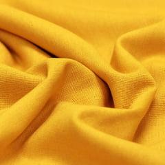 Tecido Linho Com Viscose Liso - Amarelo Ouro - 55% Linho 45% Viscose - Largura 1,35m