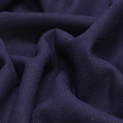 Tecido Linho Com Viscose Liso - Azul Marinho Noite - 55% Linho 45% Viscose - Largura 1,35m