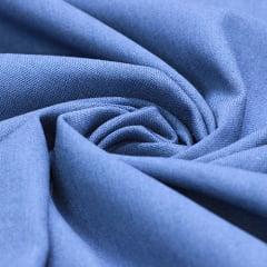 Tecido Linho Com Viscose Liso - Azul Navy - 55% Linho 45% Viscose - Largura 1,35m