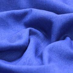 Tecido Linho Com Viscose Liso - Azul Royal - 55% Linho 45% Viscose - Largura 1,35m
