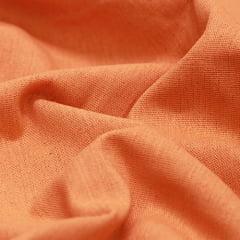 Tecido Linho Com Viscose Liso - Laranja Doce - 55% Linho 45% Viscose - Largura 1,35m