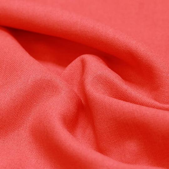 Tecido Linho Com Viscose Liso - Laranja Forte - 55% Linho 45% Viscose - Largura 1,35m