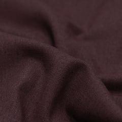 Tecido Linho Com Viscose Liso - Marrom Escuro - 55% Linho 45% Viscose - Largura 1,35m