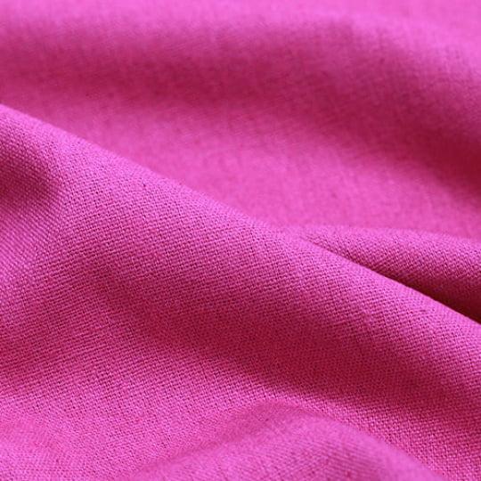 Tecido Linho Com Viscose Liso - Rosa Menina - 55% Linho 45% Viscose - Largura 1,35m