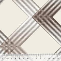 Tecido Percal 130 Fios Stripes Multi - Bege - 100% Algodão - Largura 2,45m