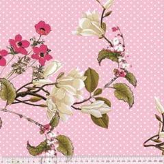 Tecido Percal 230 Fios Estampado - Coleção Floral Ref 03 - 100% Algodão - Largura 2,50m