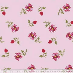 Tecido Percal 230 Fios Estampado - Coleção Floral Ref 14 - 100% Algodão - Largura 2,50m