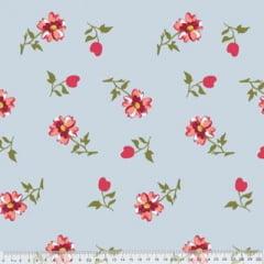 Tecido Percal 230 Fios Estampado - Coleção Floral Ref 15 - 100% Algodão - Largura 2,50m