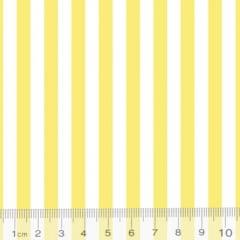 Tecido Percal 130 Fios Listrado - Amarelo - 100% Algodão - Largura 2,45m