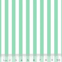 Tecido Percal 130 Fios Listrado - Verde - 100% Algodão - Largura 2,45m