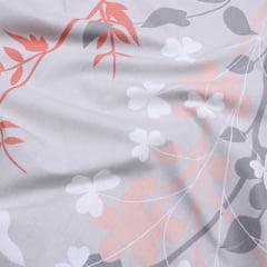 Tecido Percal 200 Fios Estampado - Jardim Gray - 100% Algodão - Largura 2,50m
