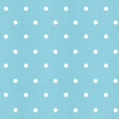 Tecido PVC Estampado Decorelli Arte - Bolinhas Turquesa - Largura 1,40m