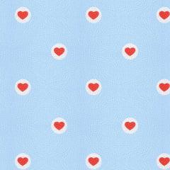 Tecido PVC Estampado Decorelli Arte - Coração Var. 1 - Largura 1,40m
