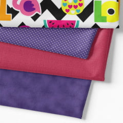 Kit Fat Quarter Especial - Chevron Pop (4 Cortes de 50 cm x 75 cm)