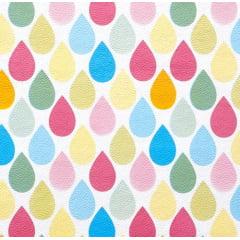 Tecido PVC Estampado Decorelli Arte - Gotinhas Coloridas - Largura 1,40m