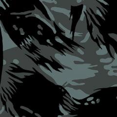 Tecido Tricoline Alg. Camuflado Rajado - Preto - 100% Algodão - Largura 1,45m