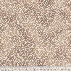Tecido Tricoline Arabesco Poeira - Bege - 100% Algodão - Largura 1,50m