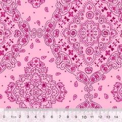 Tecido Tricoline Bandana - All Pink - 100% Algodão - Largura 1,50m