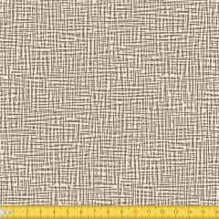 Tecido Tricoline Coleção Abstrato Riscado - Bege - 100% Algodão - Largura: 1,50m