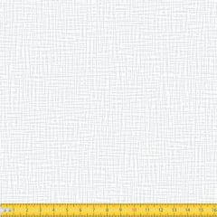 Tecido Tricoline Coleção Abstrato Riscado - Branco c/ Branco - 100% Algodão - Largura: 1,50m