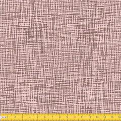 Tecido Tricoline Coleção Abstrato Riscado - Rosa c/ Marrom - 100% Algodão - Largura: 1,50m