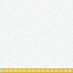 Tecido Tricoline Coleção Adamascado - Branco c/ Branco - 100% Algodão - Largura: 1,50m