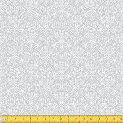 Tecido Tricoline Coleção Adamascado - Cinza - 100% Algodão - Largura: 1,50m