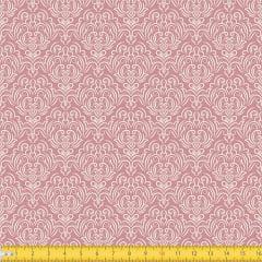 Tecido Tricoline Coleção Adamascado - Rosa Antigo - 100% Algodão - Largura: 1,50m