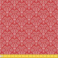 Tecido Tricoline Coleção Adamascado - Vermelho - 100% Algodão - Largura: 1,50m