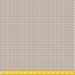 Tecido Tricoline Coleção Arrow - Bege c/ Marrom - 100% Algodão - Largura: 1,50m