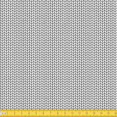 Tecido Tricoline Coleção Arrow - Branco c/ Preto - 100% Algodão - Largura: 1,50m